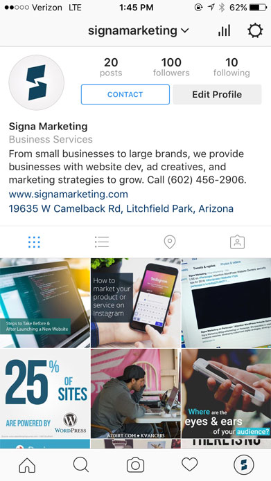 Instagram for Business Features